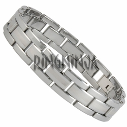 12MM Shiny Tungsten Bracelet with Laser Stripe