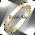 3MM Classic Domed 10K Gold Traditional Fit Wedding Ring