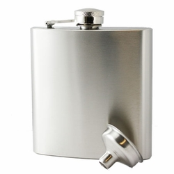 6oz Custom Engraved Stainless Steel Hip Flask & Funnel