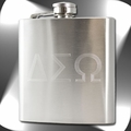 6oz Engraved Initials Stainless Steel Hip Flask & Funnel