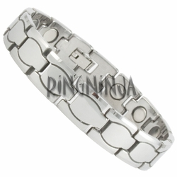 12MM Modern Silver Color Tungsten Magnetic Therapy Bracelet
