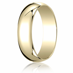 6MM Classic Domed 10K Gold Traditional Fit Wedding Ring