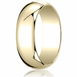 7MM Classic Domed 10K Gold Traditional Fit Wedding Ring