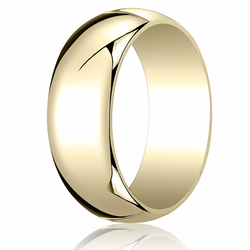 8MM Classic Domed 10K Gold Traditional Fit Wedding Ring