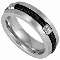 7MM Stainless Steel Cable Ring w/ Silver Fasteners