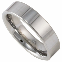 6MM Pipe Cut Men's or Women's Tungsten Wedding Ring (Unisex)