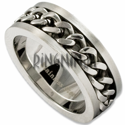 8MM Stainless Steel Chain Link Ring