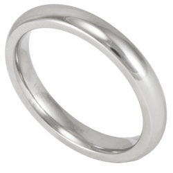 3MM Classic Domed Stainless Steel Wedding Ring