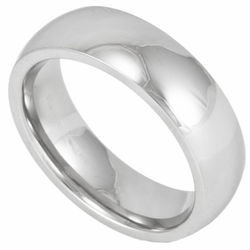 6MM Classic Domed Stainless Steel Wedding Ring