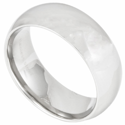8MM Classic Domed Stainless Steel Wedding Ring