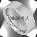 6MM Pipe Cut Unisex Modern Stainless Steel Ring
