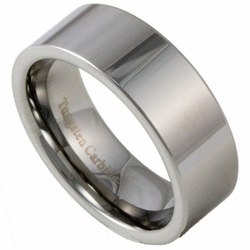 8MM Pipe Cut Men's Tungsten Wedding Ring