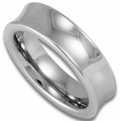 6MM 'Scoop' Style Womens or Mens Tungsten Wedding Ring