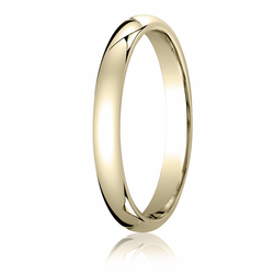3MM Classic Domed 10K Gold Comfort Fit Wedding Band Men's or Women's