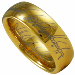 Lord of the Rings (LOTR) 18K Gold and Tungsten Ring