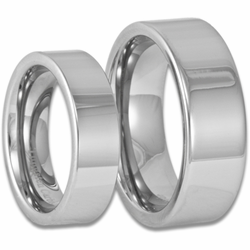 Mens and Womens Modern Matching Tungsten Wedding Ring Set