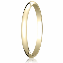 2MM Classic Domed 10K Gold Traditional Fit Wedding Ring