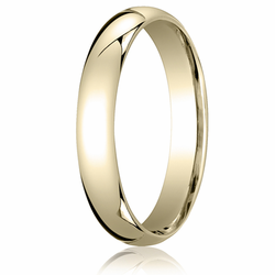 5MM Classic Domed 10K Gold Comfort Fit Wedding Band Unisex