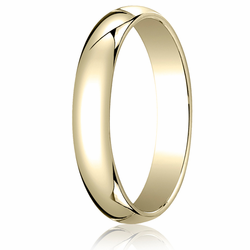 4MM Classic Domed 10K Gold Traditional Fit Wedding Ring