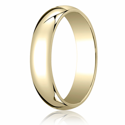 5MM Classic Domed 10K Gold Traditional Fit Wedding Ring