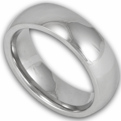 6MM Classic Domed Titanium Wedding Ring