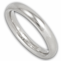 3MM Classic Domed Titanium Wedding Ring