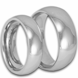 His and Hers Classic Titanium Wedding Rings