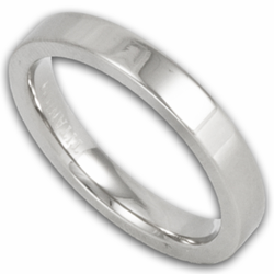 3MM Pipe Cut Titanium Wedding Ring