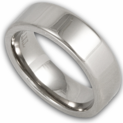 6MM Pipe Cut Titanium Wedding Ring (Unisex)