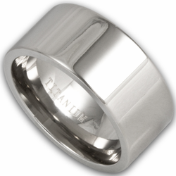10MM Pipe Cut Titanium Mens Wedding Band