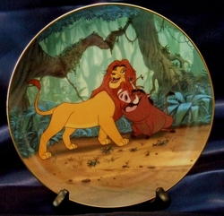 Disney Collector Plate Lion King Hakuna Matata 1995 8th Issue SOLD