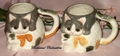Pair of Porcelain Cat Mugs H&HD Hearth & Home 1990