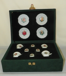 Barbie China Tea Set 1992-1995 Special Collectors Edition in Original Green Velveteen Case