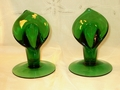 Cambridge Dark Emerald Calla Lily Candlesticks Pair