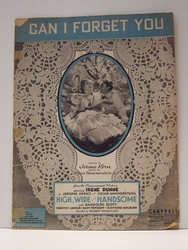 Collectible Sheet Music Can I Forget You High,  Wide & Handsome
