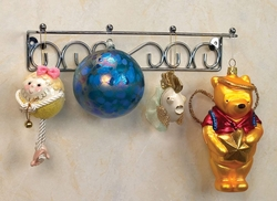 Silver Finish Hanging Ornament Displayer