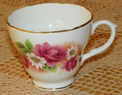 Cup Only Duchess Bone China Stella #370 Floral Pink Roses