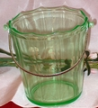 Cambridge Uranium Crystal Ice Bucket with Metal Handle