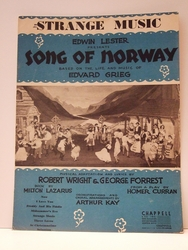 Collectible Sheet Music Strange Music Song of Norway