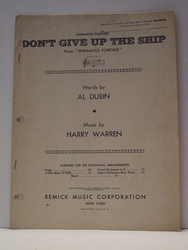 Collectible Sheet Music Don't Give Up The Ship