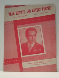 Collectible Sheet Music Dear Hearts and Gentle People
