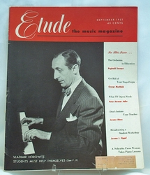 Etude The Music Magazine 1951 September