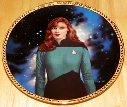 Star Trek Next Generation (TNG) Collector Plate Dr. Beverly Crusher