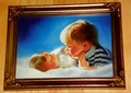 Donald Zolan Miniature Lithograph Brotherly Love Limited Edition 2nd issue