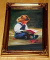 Donald Zolan Miniature Canvas Replica Quiet Time 1992