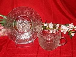 Anchor Hocking Sandwich Cup and Saucer Set