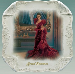 Gone With The Wind White Lace Collector Plate Grand Entrance SOLD