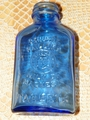 Vintage Phillips Milk of Magnesia Tablets Blue Bottle 5 inches no lid