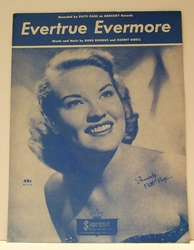 Evertrue Evermore Patti Page- Sheet Music