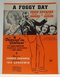 A Foggy Day Fred Astaire Gershwin - Sheet Music